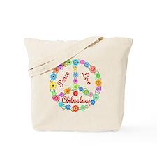 Peace Love Chihuahuas Tote Bag
