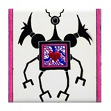 Cyclops Valentine's Bug Tile Coaster