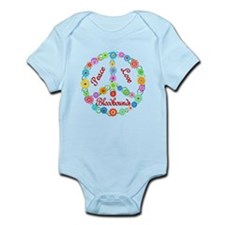 Peace Love Bloodhounds Infant Bodysuit