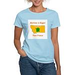 Montana is Bigger than France Women's Light T-Shir