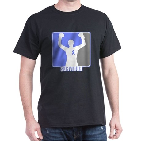 Stomach Cancer Men Survivor Dark T-Shirt