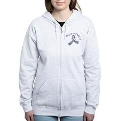 Stomach Cancer Survivor Women's Zip Hoodie