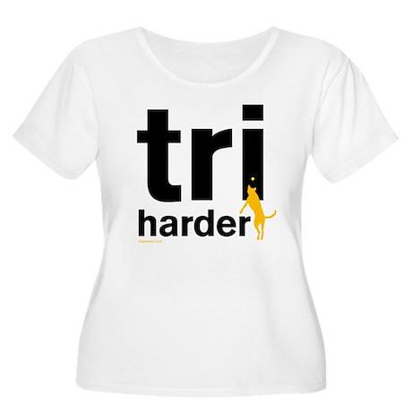 Tri Harder Women's Plus Size Scoop Neck T-Shirt