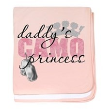 Daddy's Camo Princess baby blanket