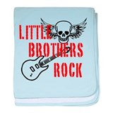 Little Brothers Rock baby blanket