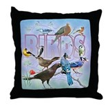 Bird Friends Throw Pillow