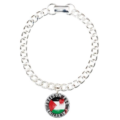 Freedom for PALESTINE 2011 Charm Bracelet, One Cha