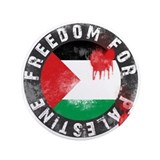 "Freedom for PALESTINE 2011 3.5"" Button"
