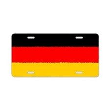German Flag Aluminum License Plate