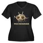 Pastafarian Women's Plus Size V-Neck Dark T-Shirt