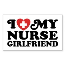 I Love My Nurse Girlfriend Decal