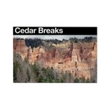 Cedar Breaks NM Rectangle Magnet