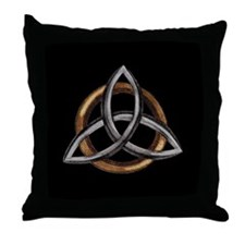 Triquetra Throw Pillow