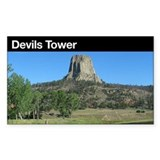 Devils Tower NM Rectangle Decal