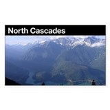 North Cascades National Park Rectangle Decal