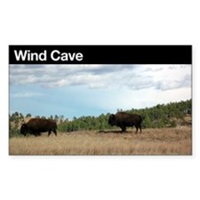Wind Cave NP Rectangle Decal