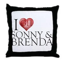 I Heart Sonny & Brenda Throw Pillow