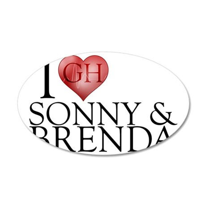 I Heart Sonny & Brenda 38.5 x 24.5 Oval Wall Peel