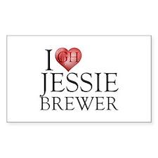 I Heart Jessie Brewer Sticker (Rectangle)