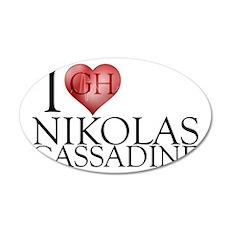 I Heart Nikolas Cassadine 22x14 Oval Wall Peel