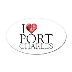 I Heart Port Charles 22x14 Oval Wall Peel
