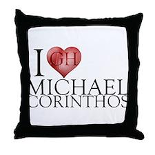I Heart Michael Corinthos Throw Pillow