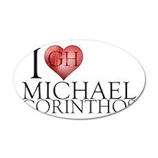 I Heart Michael Corinthos 22x14 Oval Wall Peel