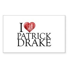I Heart Patrick Drake Sticker (Rectangle)