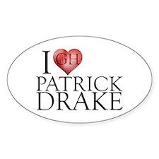 I Heart Patrick Drake Sticker (Oval)