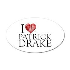 I Heart Patrick Drake 38.5 x 24.5 Oval Wall Peel