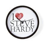 I Heart Steve Hardy Wall Clock
