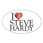 I Heart Steve Hardy Sticker (Oval 10 pk)