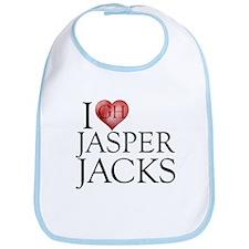 I Heart Jasper Jacks Bib