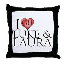 I Heart Luke & Laura Throw Pillow