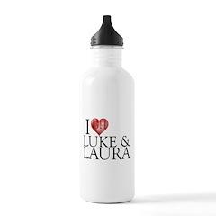 I Heart Luke & Laura Water Bottle