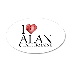 I Heart Alan Quartermaine 22x14 Oval Wall Peel