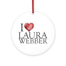 I Heart Laura Webber Round Ornament