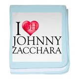 I Heart Johnny Zacchara Infant Blanket