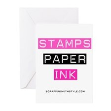 Stamps Paper Ink Greeting Cards (Pk of 10)