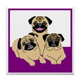 Isabelle, Madison & Lucee Tile Coaster