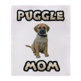 Puggle Mom Throw Blanket