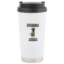 Puggle Mom Ceramic Travel Mug
