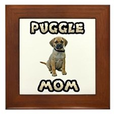 Puggle Mom Framed Tile