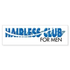 Hairless Club for Men - Bumper Bumper Sticker