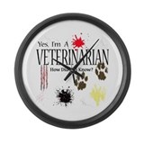 Yes I'm A Veterinarian Large Wall Clock