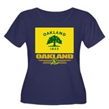 Oakland Pride Women's Plus Size Scoop Neck Dark T-