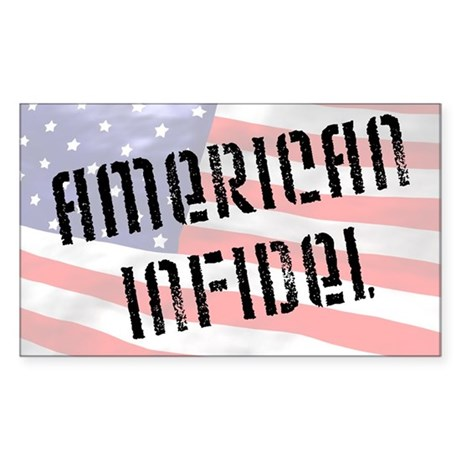 """American Infidel"" Rectangle Sticker"
