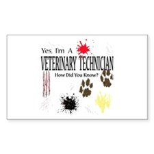 Yes I'm A Veterinary Technician Decal