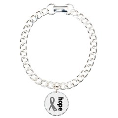 Hope Ribbon Diabetes Charm Bracelet, One Charm
