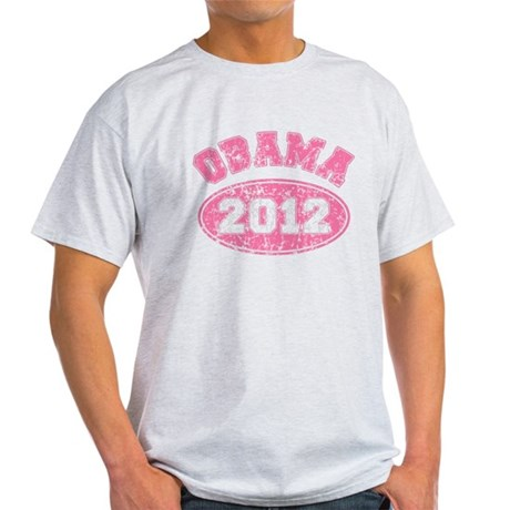 OBAMA 2012 Pink Faded Light T-Shirt